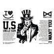 Vetores Profissionais – Uncle Sam